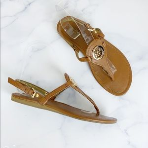 Michael Kors Brown Leather Sandals 🌿
